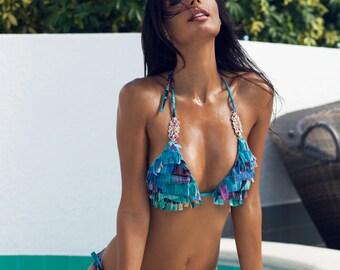 Jeweled fringe Bikini