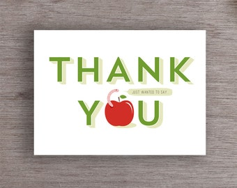 PRINTABLE Thank You Card // Thank You Card for Teachers // Printable File // Digital Card File