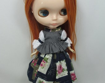 Outfit costume set blouse and skirt for Blythe doll 790-51