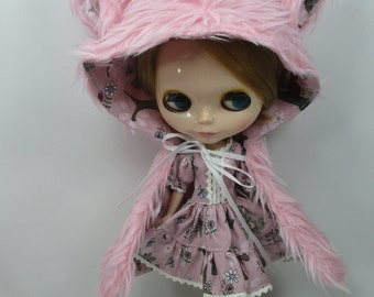 Blythe Outfit Clothing Fashion costume set animal fancy hat and dress  999-11