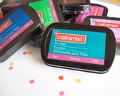 Ink Pads for Stamping , Choose Your Color - Black Red Blue Green Brown Turquoise Fuschia Lavender