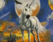 Unicorns with Blue Fleece Blanket - Ready to Ship Now