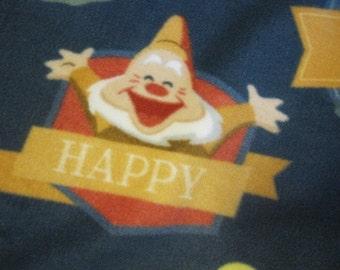 Seven Dwarves Handmade Fleece Blanket