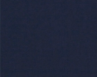 Solid Navy Blue 4 Way Stretch 9oz Cotton Lycra Jersey Knit Fabric, 1 Yard
