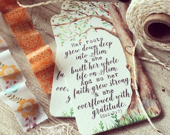 overflowed with gratitude Colossians 2:7 tree #TheAdoptShoppecard