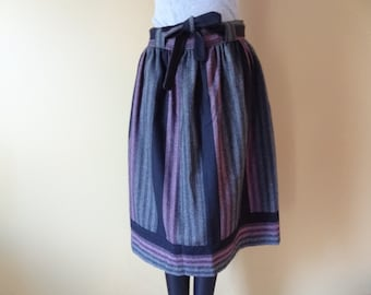 Black and Pink Wool Skirt size Small