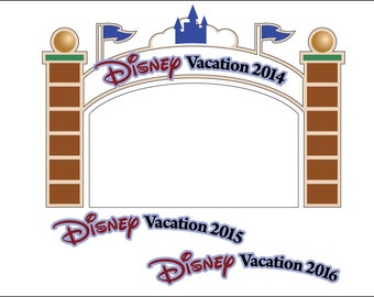 SVG/JPG/PNG Disney Cut Files entry gate/sign for scrapbooking-2014-2016