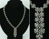 JUDITH JACK necklace • marcasite sterling silver deco style jewelry