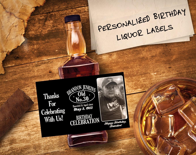 custom jack daniels mini bottle labels birthday