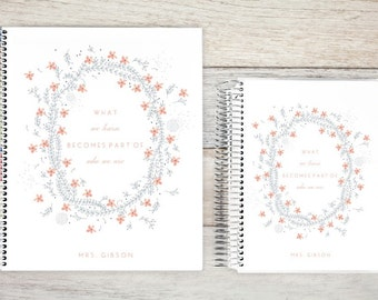 Monthly Planner | 24 Month Planner | Personalized Monthly Planner | 2 Year Planner | Monthly Planner Organizer | what we learn