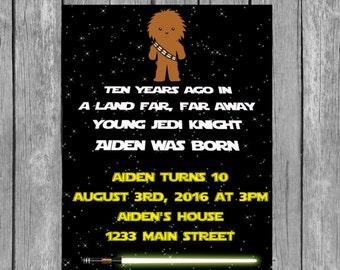 Chewbacca invitation, chewbacca birthday party,chewbacca invite,chewbacca invitations, chewbacca birthday invitation, chewy party,star wars