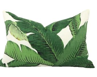 Lumbar Toss Pillow, Outdoor Throw Pillow, Beverly Hills Hotel, Outdoor Pillow, Beach Decor, Palm Leaf Pillow - Made to Order