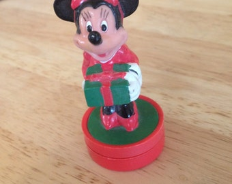 Vintage Disney Minnie Mouse Holiday Stamp