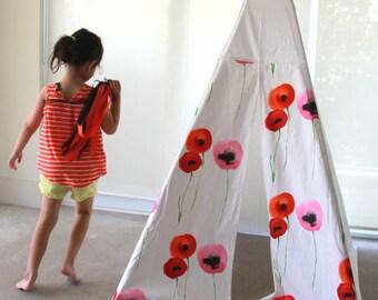 Minimalist Indoor Tent with Decorative Doors | Poppies