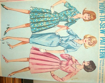 Vintage 1964 Dress Pattern by Simplicity 5848 Size 41 1/2 Bust 35 Complete