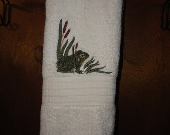 Embroidered His Her Hand Towels Cowboy And Cowgirl By