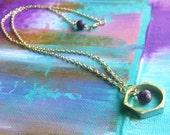 Geometric Purple Fossil Necklace
