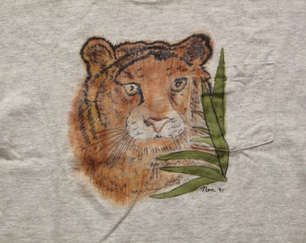 vintage hand painted t shirt