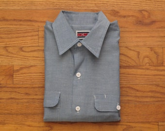 mens vintage Big Mac selvedge chambray work shirt