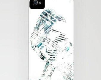 Contemporary Raven iPhone 7 Case - Minimalist Bird Painting - Designer iPhone Samsung Case