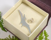 Sterling Silver Pterodactyl Pin: A Terrifying Pterodactyl in sterling silver