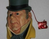 Vintage Bossons Chalkware Mr. Micawber Wall Plaque With Tag