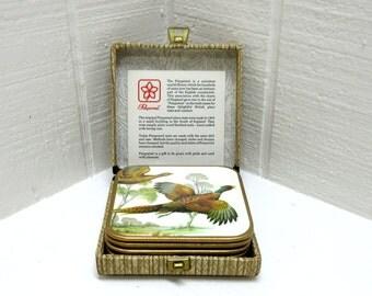 Vintage Drink Coasters Pimpernel Coasters Win-El-Ware Coasters With Ducks Game Birds Made in England
