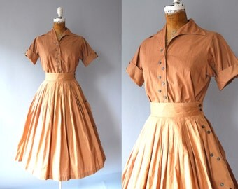 1950s Two Piece / Double Trouble Set / 50s