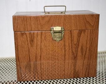 Vintage Metal File Box with Key - item #2041