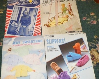 Save 10% 4 - Assorted Knitting Books - See Description - Have some wear
