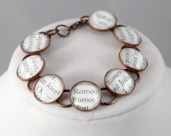 Custom Shakespeare Literary Bracelet Jewelry