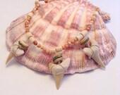 Three Shark Teeth Necklace