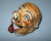 Novelty Ash Tray / Laughing Old Man Ash Tray / Vintage Novelty