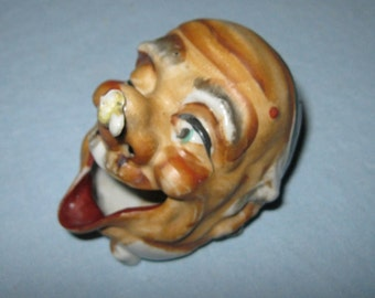 Novelty Ash Tray / Laughing Old Man Ash Tray / Vintage Novelty