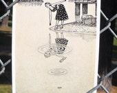 Bottle Cap Postcard by David Jablow Doodle Pad Art 5x7 Glossy
