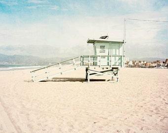 Framed Wall Art, Venice Beach, California, Beach Wall Art, Lifeguard Tower, Framed Beach Art, Framed Wall Decor, Large Wall Art