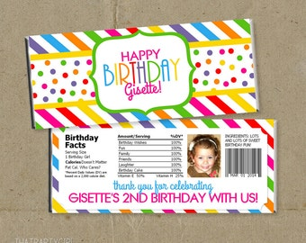 Candy Shop Party Candy Bar Wrappers Favors