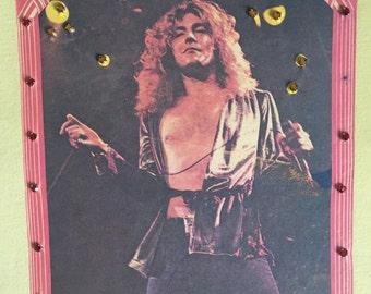Rober Plant Obsessed!  1976 Rhinestoned Rocker Sleeveless T Shirt Tank