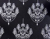 Black & White Chandelier Pattern Contact Paper Self-adhesive Wallpaper