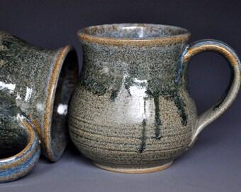 Pottery Mug Stoneware Ceramic Coffee Cup Handmade Mug Antique Drip