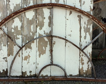 Large Antique Architectural Salvage Iron Window Transom, Architectural Iron , Antique Wall Decor, Arch, Door, Iron Window, Iron Gate