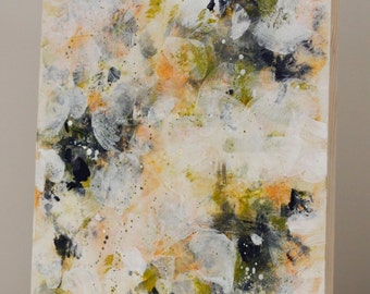 Encaustic Painting Original Abstract Painting Roses painting  So Many Blessings  14 x 18  Swalla Studio