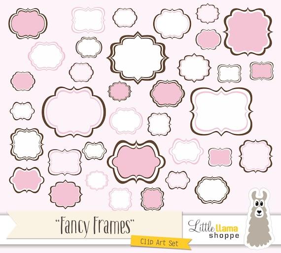 Fancy Frames Clip Art, Pink Tag Clipart , Pink Frame ...