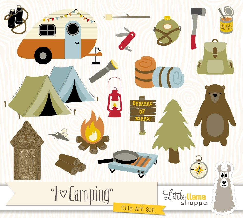 Camping Clipart Backpacking Clip Art Camp Clipart Hiking