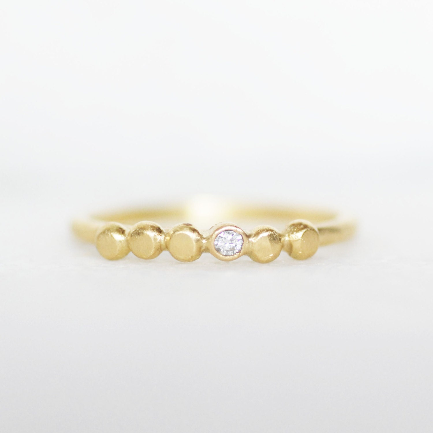 Tiny diamond pebble wedding ring 2mm diamond ring 18k or for Tiny wedding ring