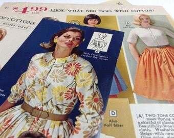 1960s Brittish fashion magazine pages for collage or scrapboking