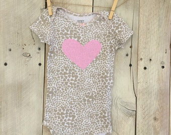 12 Month HeartsBodysuit for baby girl