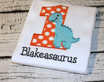 Dinosaur Birthday Shirt, Personalized Dinosaur Birthday, Dino Birthday, Boy's Dinosaur Shirt, Girl's Dinosaur Shirt, Choose your fabrics