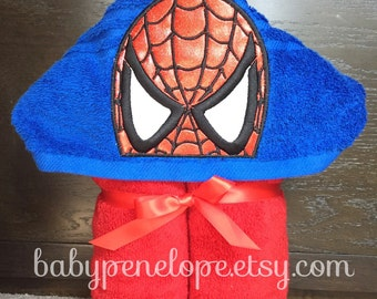 Spider Man Hooded Towel