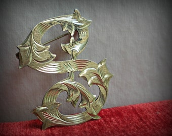 Sterling Letter S Brooch